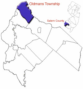 Map of Oldmans Township -<br /><br /><br /><br /><br /><br /><br /><br /><br /><br /><br /><br /> Taken from State of New Jersey website - adapted by Jennifer Lusch- licensed under GFDL and cc-by-sa